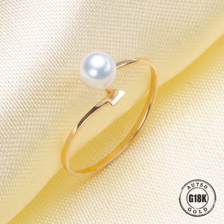 Luxury genuine G18K Yellow Gold Rings for Women Adjustable Free Size Wedding Ring Fashion Pure Gold-jewelry DIY AccessoriesLuxury genuine G18K Yellow Gold Rings for Women Adjustable Free Size Wedding Ring Fashion Pure Gold-jewelry DIY Accessories