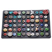 Evolution High Quality Black PU Leather Snap Stands Display Set 12 18mm Snap Buttons Snaps Jewelry