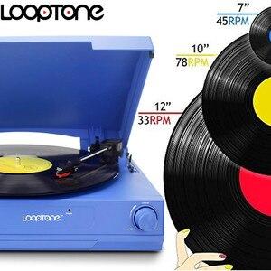 Image 2 - Looptone Dây Ổ 33/45/78 Vòng/phút Bluetooth Vinyl LP Kỷ Lục Cầu Thủ Bàn Xoay Đĩa Loa Tích Hợp Jack Cắm Tai Nghe & Rca Line Out
