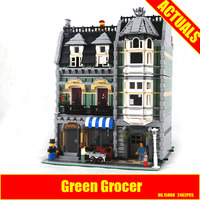 Lepin 15008 2462Pcs City Street Green Grocer Model Building Kits Blocks Bricks Compatible Educational Toys 10185