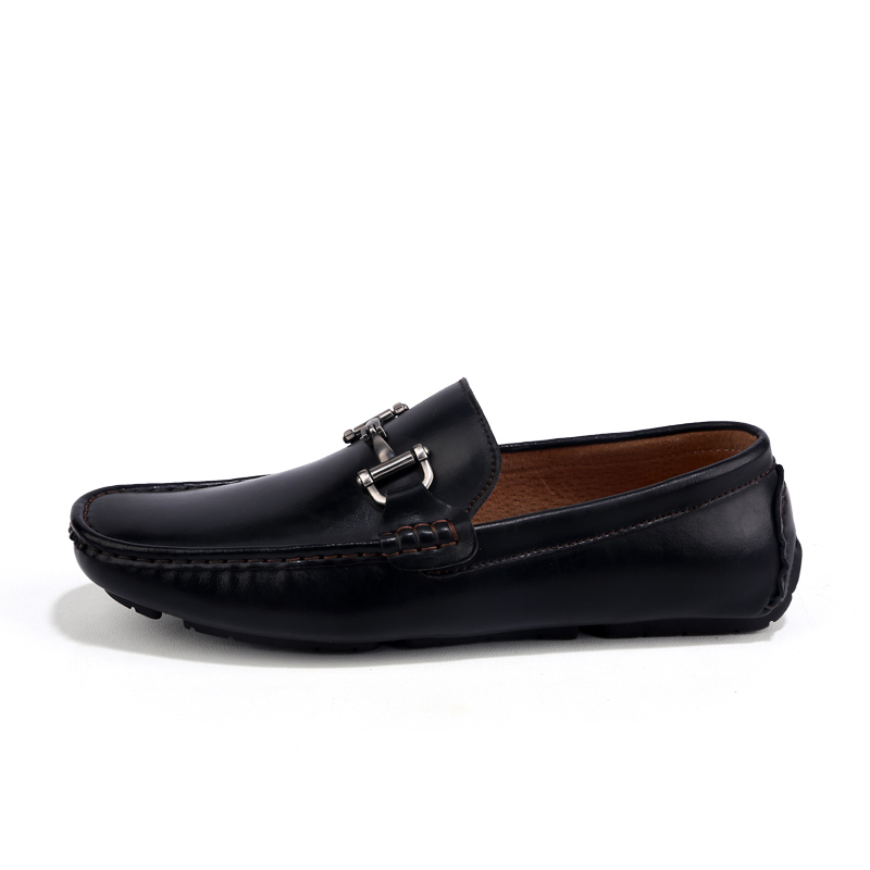 Top Äkta Läder Slip On Lofers Män Casual Shoes Fashion Köra Mjuka - Herrskor - Foto 3