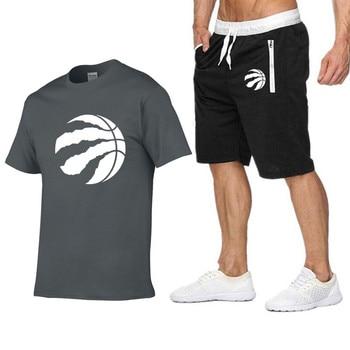 fc442026d3 Moda Raptors Jersey hombres camiseta pantalones cortos verano Casual  chándal Hombre Ropa Deportiva 2019 marca ropa camiseta pantalones cortos  camiseta Top