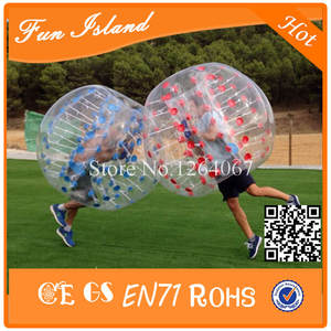 Free shipping 2 PCS (1Red+1 Blue)Soccer Zorb Ball,Soccer Bubble,Bumperball On Sale