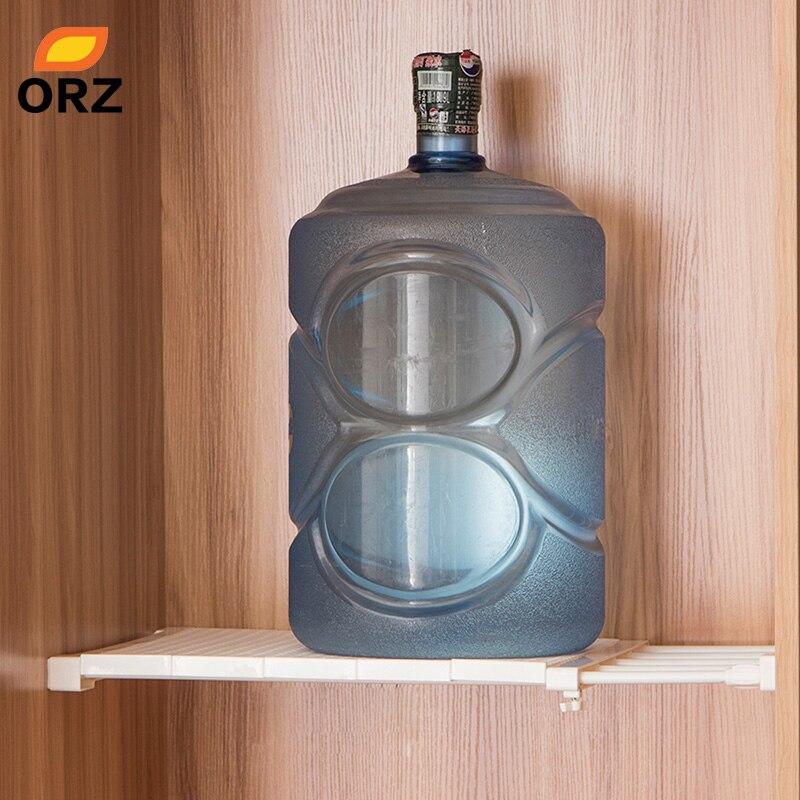 Image 3 - ORZ Retractable Closet Organizer Shelf Adjustable Kitchen Cabinet Storage Holder Cupboard Rack Wardrobe Organizer Bathroom Shelf-in Storage Holders & Racks from Home & Garden