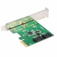 2 Port SATA 6Gbps PCI Express Controller Card RAID 0 RAID1 + PCIe to SATA 3.0 SSD + Port Multiplier FIS