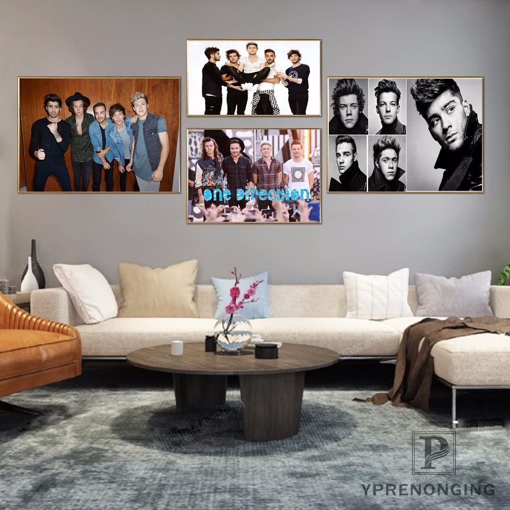 Canvas Poster Silk Fabric Custom One Direction Home Decor Poster Print  Creative Mural Art #180327-34