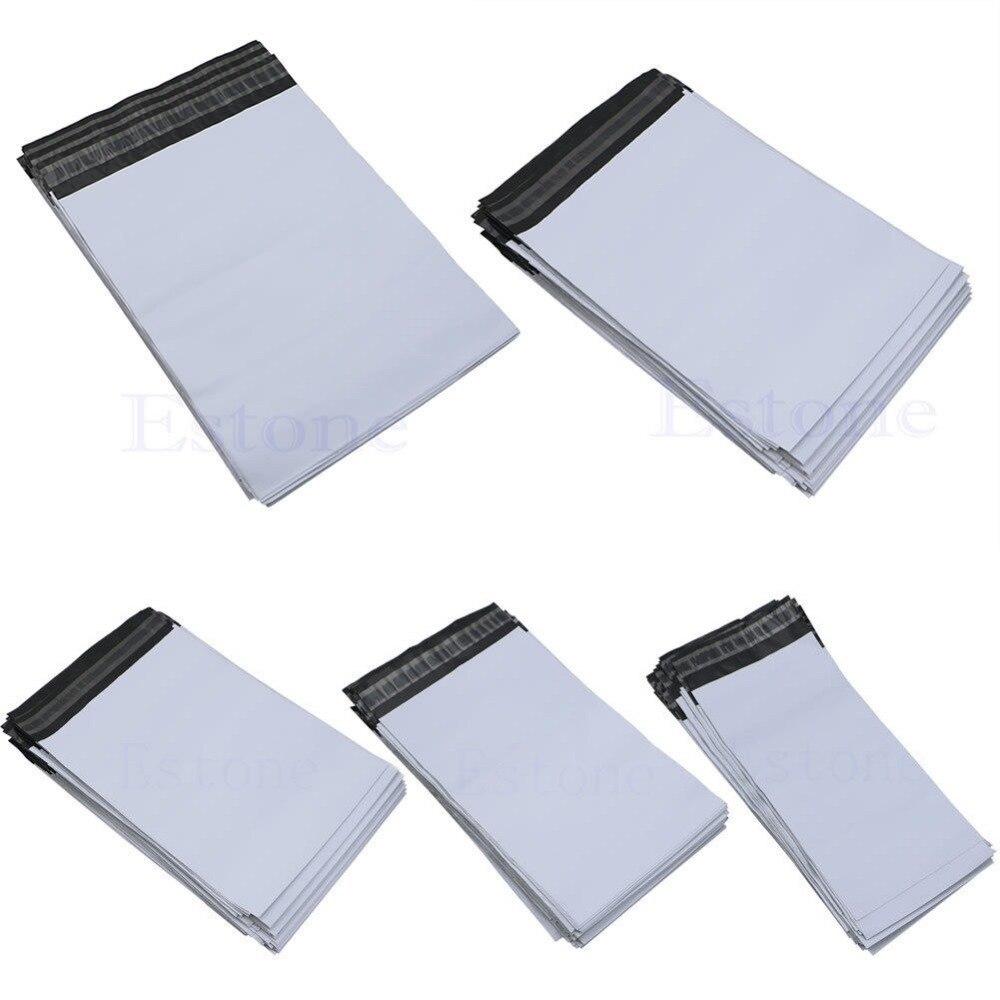 Post- & Versandmaterialien Lot 100 Pcs 5 Größen Poly Mailer Selbst Abdichtung Kunststoff Versand Mailing Tasche Mehrzwecktasche