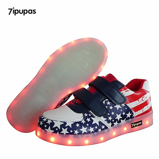 7ipupas 11 Colors Kids Led Shoes Deep Blue Funny Flash Shoe Children