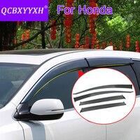 QCBXYYXH Car Styling 4pcs/lot Window Visors For Honda CRV Civic Accord Vezel Hrv City Fit Jazz Sun Rain Shield Stickers Covers