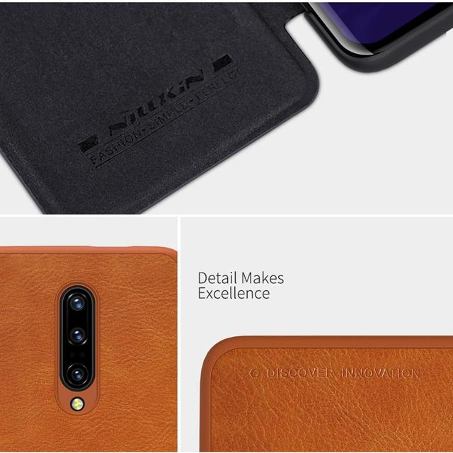 NILLKIN QIN Series for OnePlus 7 Pro Case Cover Vintage Flip Cover Wallet PU Leather PC Back Cover For OnePlus 7T Pro