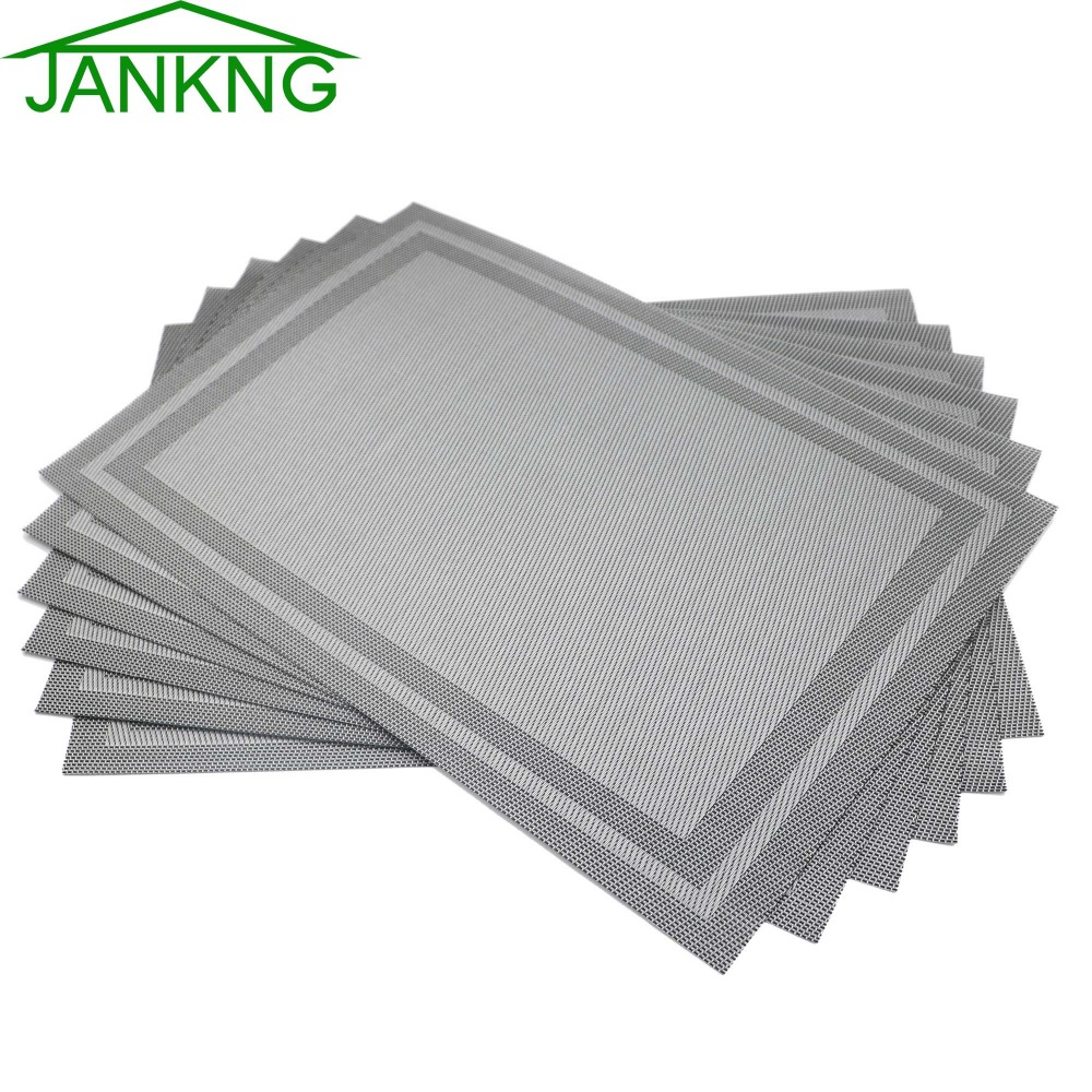 JANKNG Crossweave Woven Vinyl Table Mats Wedding  : JANKNG Crossweave Woven Vinyl Table Mats Wedding Decoration Non slip Insulation Placemat Washable Kitchen Table Mats from www.aliexpress.com size 1000 x 1000 jpeg 284kB