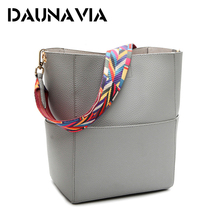 DAUNAVIA Luxury Handbags Women Bag Designer Brand Famous Shoulder Bag Female Vintage Satchel Bag Pu Leather Gray Crossbody
