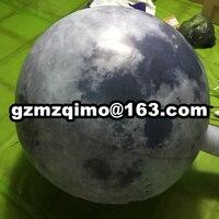 Бесплатная двери Доставка 6 м/8 м/10 м гигантские надувные moon balloon, светодиодное освещение надувные Луны планета воздушные шары с кроликом для