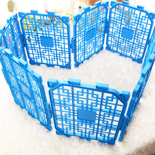 Mastone Folding Pet Playpen Fence Dog Gate Safety Stair Room Plastic Pet Secure Fence