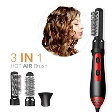 Professional 3 In 1 Multifunction Hair Styling Tools Hair dryer Hair Curler Straightener Dryer Comb Brush Machine 10in1 110v 220v power multifunctional hair curlers styling tools hair sticks kinkiness hair dryer machine comb hairdressing tool