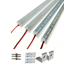 V shell Profile 8520 LED rigid Strip 50cm 36leds led strip bar for cabinet closet kitchen with cover double chip supper bright