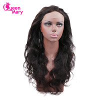 Brazilian Body Wave 360 Lace Frontal Pre Plucked With Baby Hair Brazilian Hair 100% Human Hair 8 20inch Queen Mary Hair Non Remy