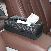 ZATOOTO Leather Car Block Type Tissue Box Holder Foldable Tissue Boxes For Home Office Car Accessories
