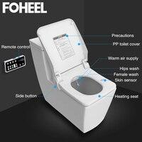 FOHEEL умный умывальник Туалет чехол для сиденья чаши для туалетов сиденье Отопление чистый электронный биде крышка сухой умный туалет крышка