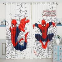 INS Modern Spiderman Cartoon Blackout Curtains For Kids Room Printed Curtain For Boys Bedroom Window Treatment Bedroom Drap