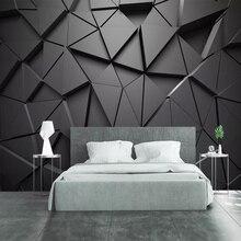 Современный Креативный 3D геометрический абстрактный серый треугольник Большая фреска 3D обои для гостиной ТВ стены домашний декор настенная Ткань 3D Фреска