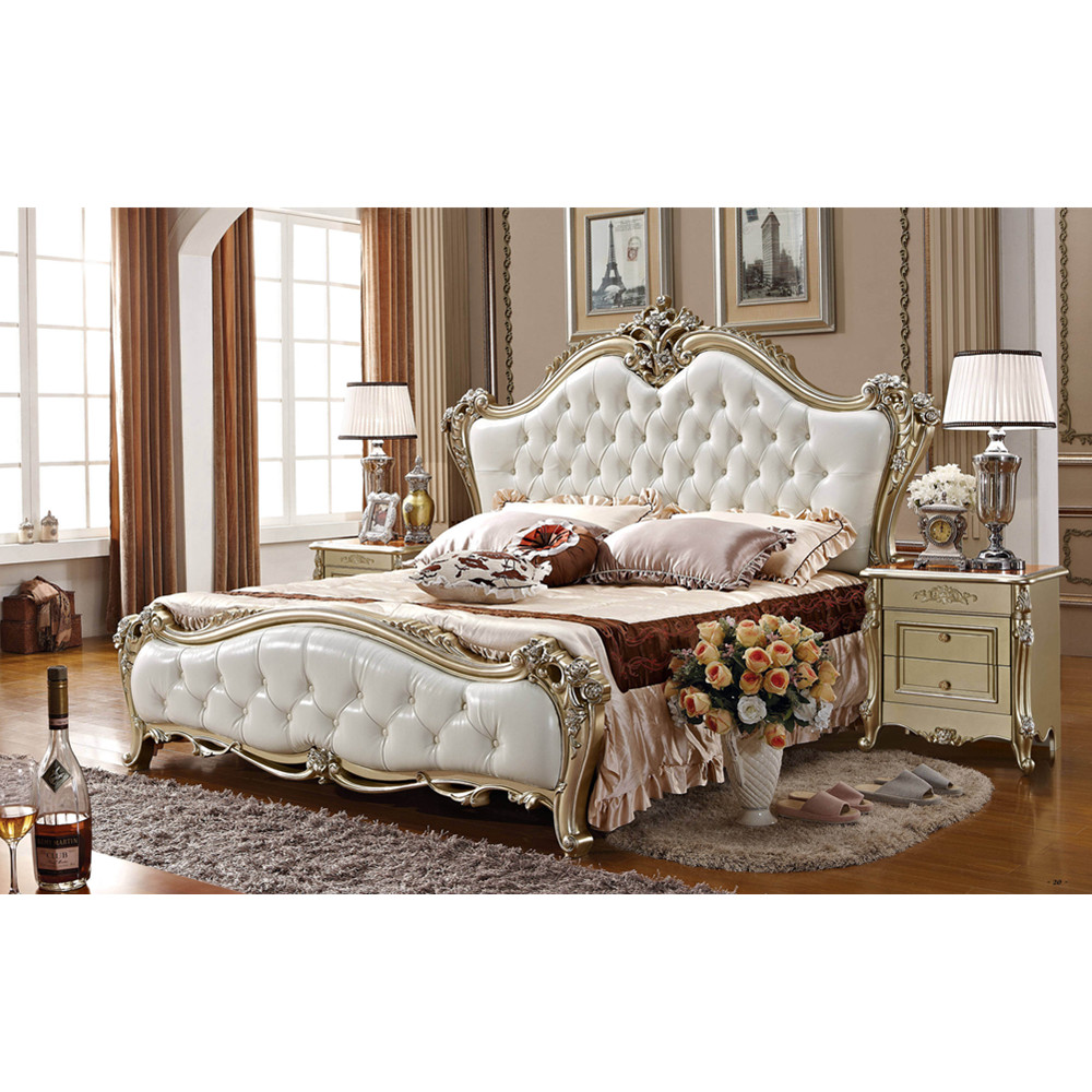 European Luxury King Size Latest Classic Bedroom Furniture