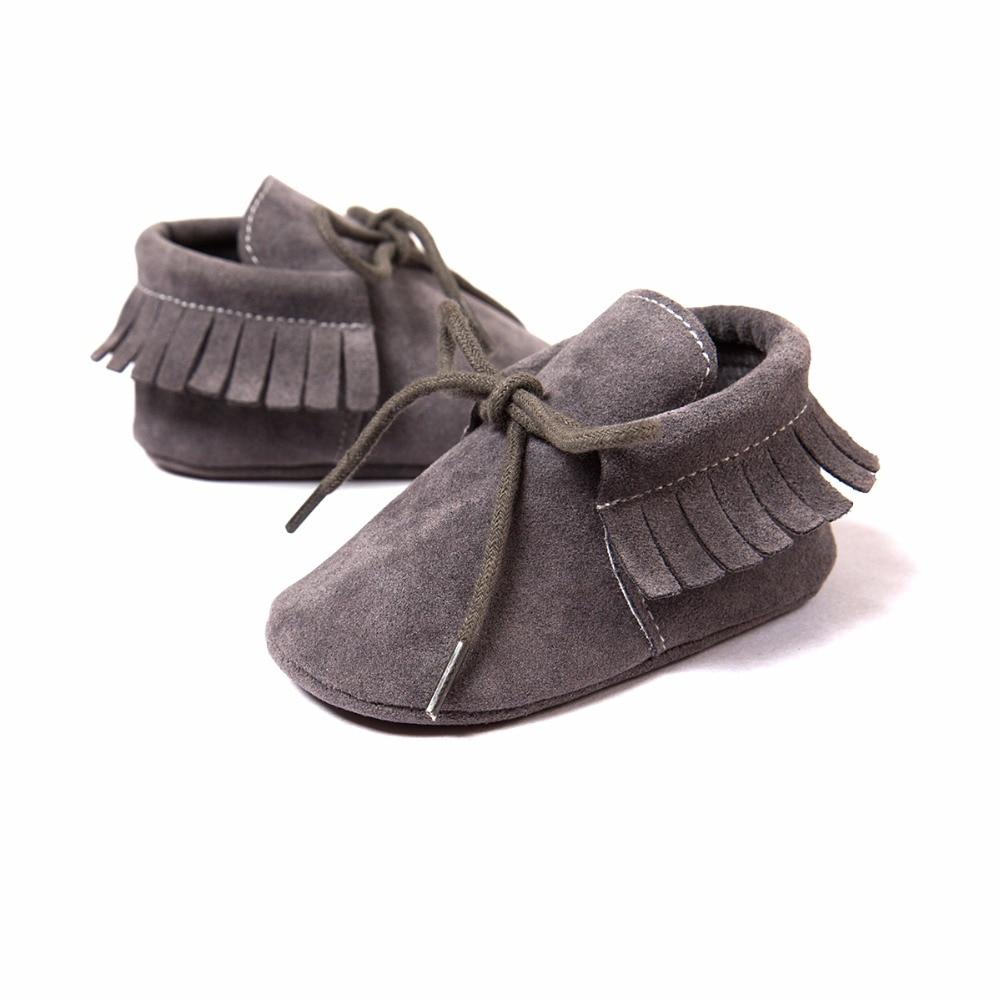 Мальчик Девочка Детские Мягкие Moccs Детская Обувь PU Замши Новорожденных Bebe Fringe Мягкой Подошве нескользящей Обуви Кроватки обуви