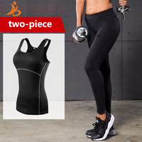 YD New GYM Hip Push Up Fitness Tights Yoga Set Women Sport Suit Wick Workout Clothing