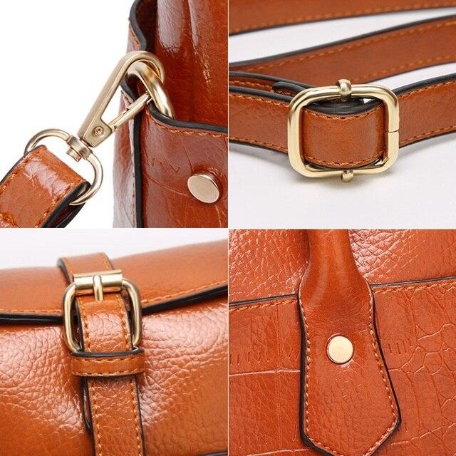 Designer Women Shoulder Bag Large Tote Bag Women's Quality Handbags for Female Crocodile Leather Messenger Bag 5