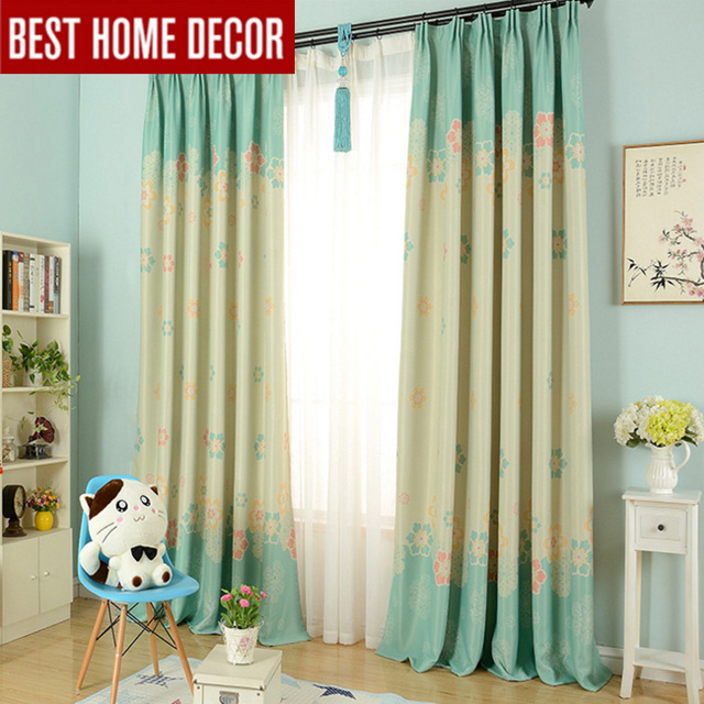 Modern Cartoon Flower Blackout Curtains For Kidu0027s Room Children Curtains  For Window Floral Kids Curtain For