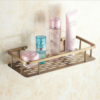 Free Shipping New 30CM Length Bathroom Kitchen Shelf Wall Mount Rectangle Basket Shelf Antique Brass Finish