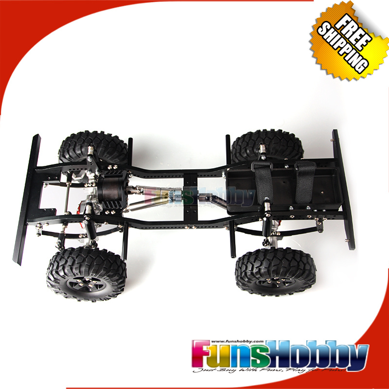 MHPC 1/10 RC Crawler Alloy Chassis Kit for D90 Tamiya Land
