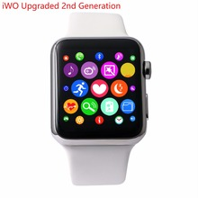 IWO Mejorada segunda Generación MTK2502C 42 MM Bluetooth Smartwatch Podómetro Reloj Inteligente Probador de la Frecuencia Cardíaca ECG para Android iPhone