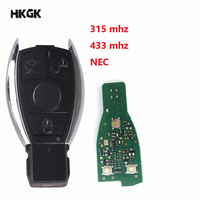 3 Buttons remote key/2 BATTERY for Mercedes Benz 1998 2012