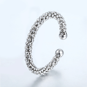 Famous Brand Fashion Punky Style Women Hollow scaly bracelet Stainless Steel Cuff Bangles For Love Women Bracelets Wholesale image