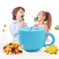 LeadingStar Silica Gel Dễ Thương Lemon Shape Đồ Ăn cho Trẻ Em của Snack Cup Chống Bỏ Qua Xử Lý Ngăn Chặn Bắn Tung Tóe Bé Cup zk30