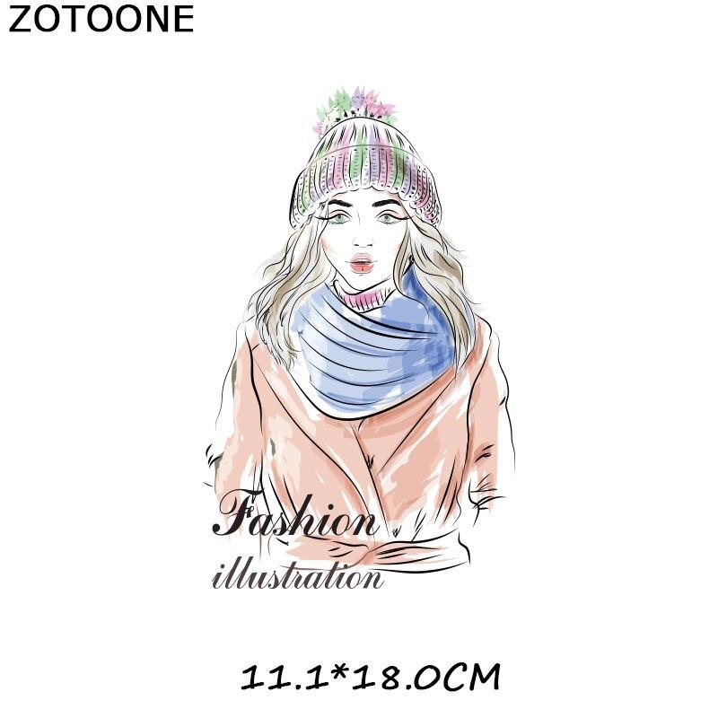 """ZOTOONE железные нашивки на одежду Diy полоски 3D аппликация """"Девочка"""" теплопередача для украшения из ткани наклейки для детей G - Цвет: 884"""