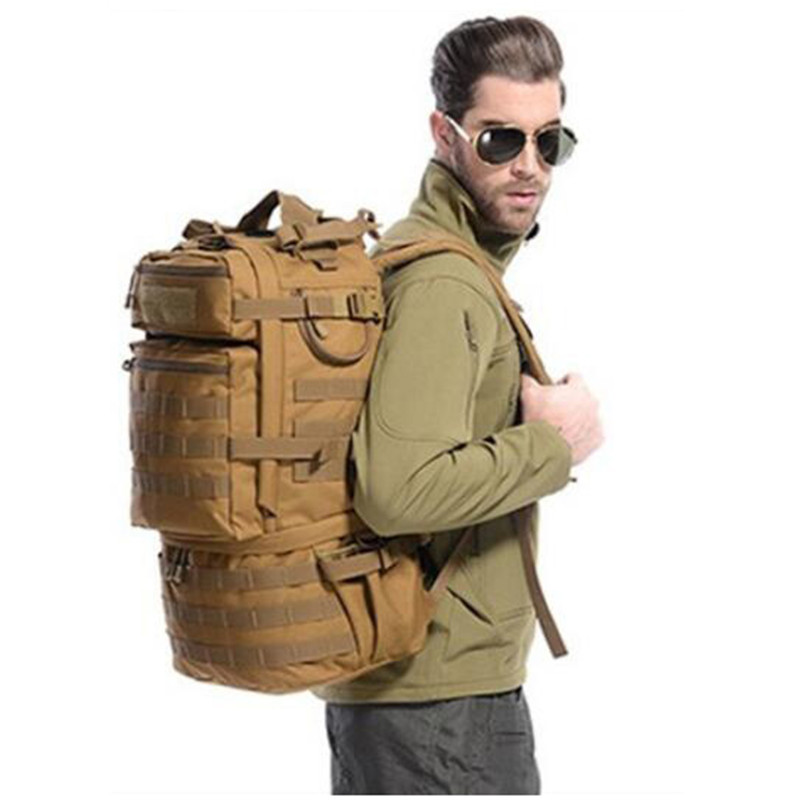 ФОТО New large capacity backpack backpack travel waterproof bag female high grade 50 L Recreation  camouflage bag wearproof  bag