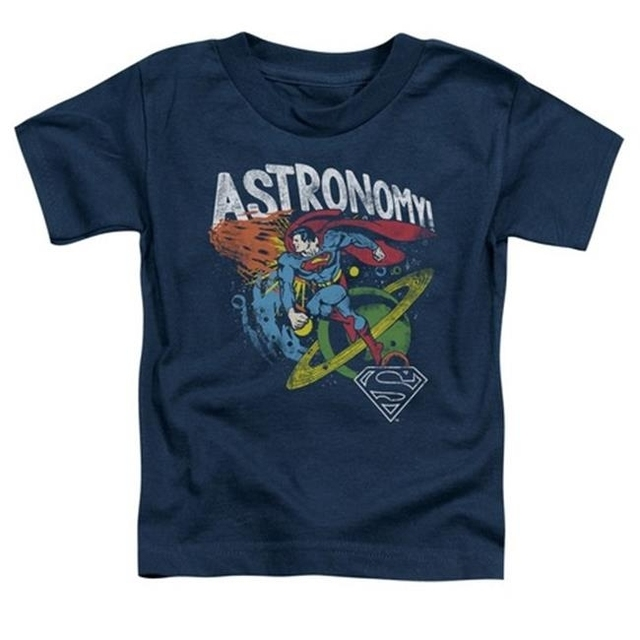 Trevco Dc-Astronomy – Short Sleeve Toddler Tee – Navy Large 4T