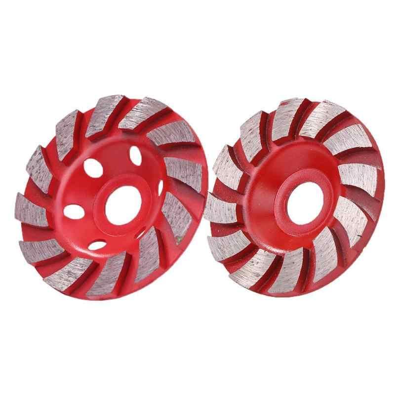 100 Mm dan 90 Mm Diamond Grinding Wheel Beton Keramik Granit Grinding Disc Alat Abrasive Bentuk Mangkuk Keramik Alat