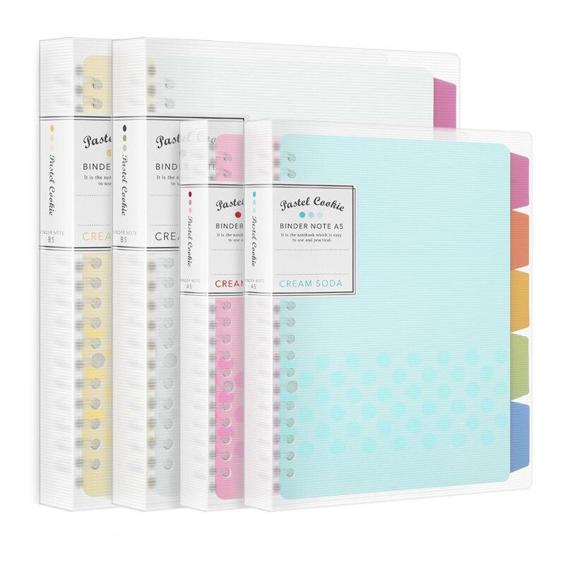 Jianwu japão kokuyo macaron nota livro folha solta núcleo interno a5 b5 caderno diário plano pasta material escolar de escritório anel fichário