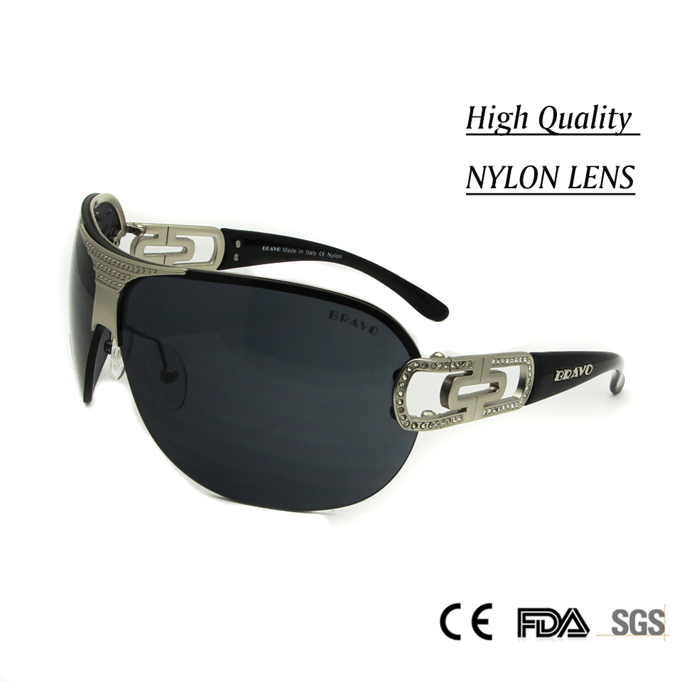 045bfadf09 Luxury Womens Rimless Glasses occhiali Diamond oculos de sol feminino High  Quality Nylon Lens Sunglasses Women