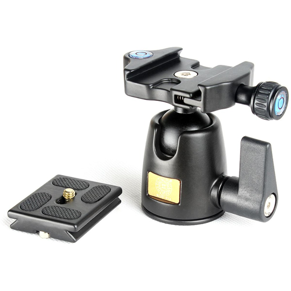 New QZSD Q-01 360 Degree Rotate Tripod Monopod Ball Head Camera Ballhead with Quick Release Plate