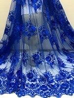 Акция. 1 ярд/лот по Epacket высокое качество нигерийский Французский Чистая кружево России Африканский ткань для свадебное платье Бесплатная д...