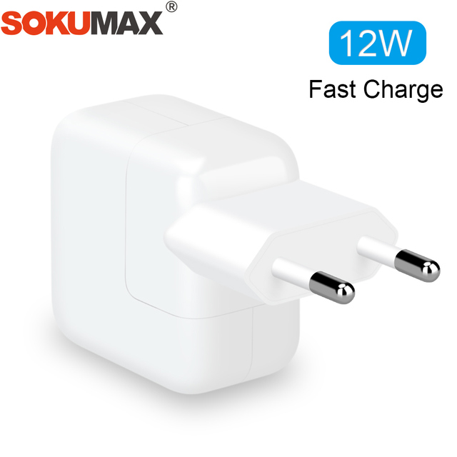 buy popular f058a 8fc0d US $3.99 20% OFF|2.4A Fast Charging 12W USB Power Adapter Phone Travel Home  Charger for iPhone X 8 Plus 7 6S 5S iPad Mini Air Samsung for Euro EU-in ...