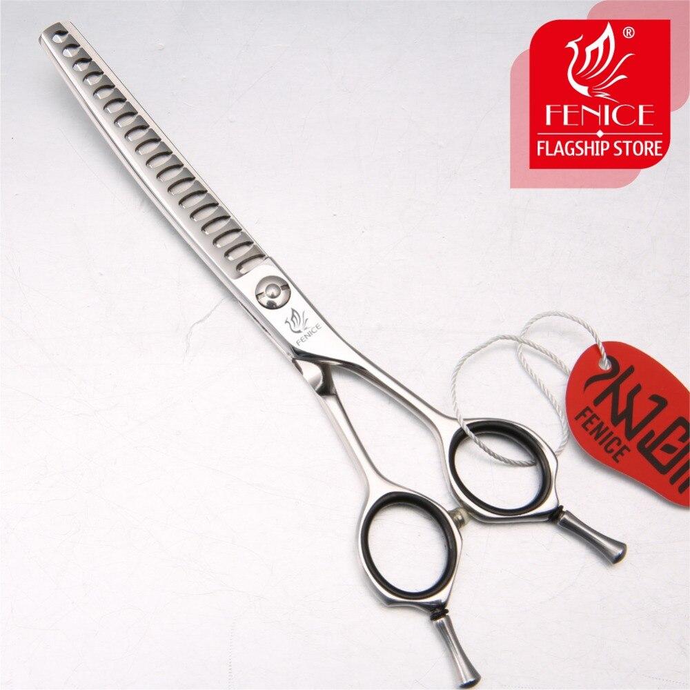 Fenice профессиональные JP440c 6,5 дюймов Высокое качество Большой вырезать зуб Груминг для собачьей шерсти изогнутые тоньше филировочные ножниц...