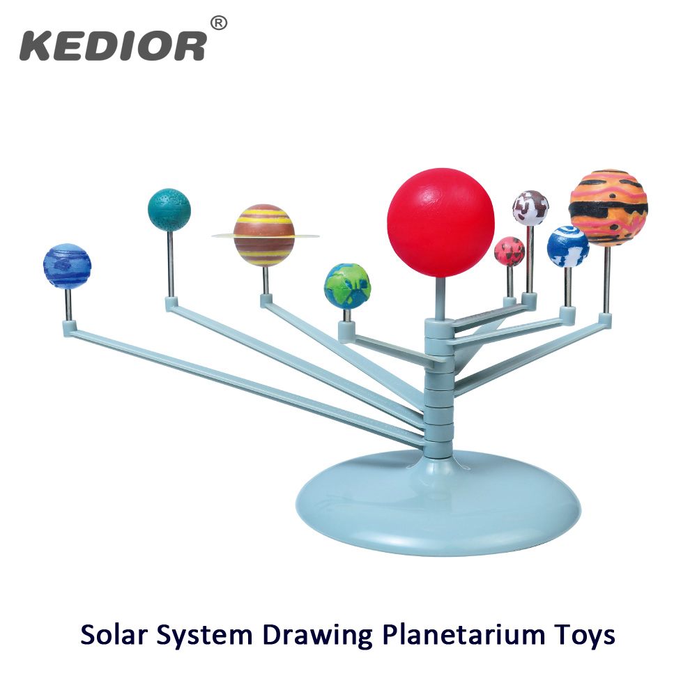 DIY The Solar System Planets Planetarium Model Building Kit Astronomy Science Painting Educational Toys For Children