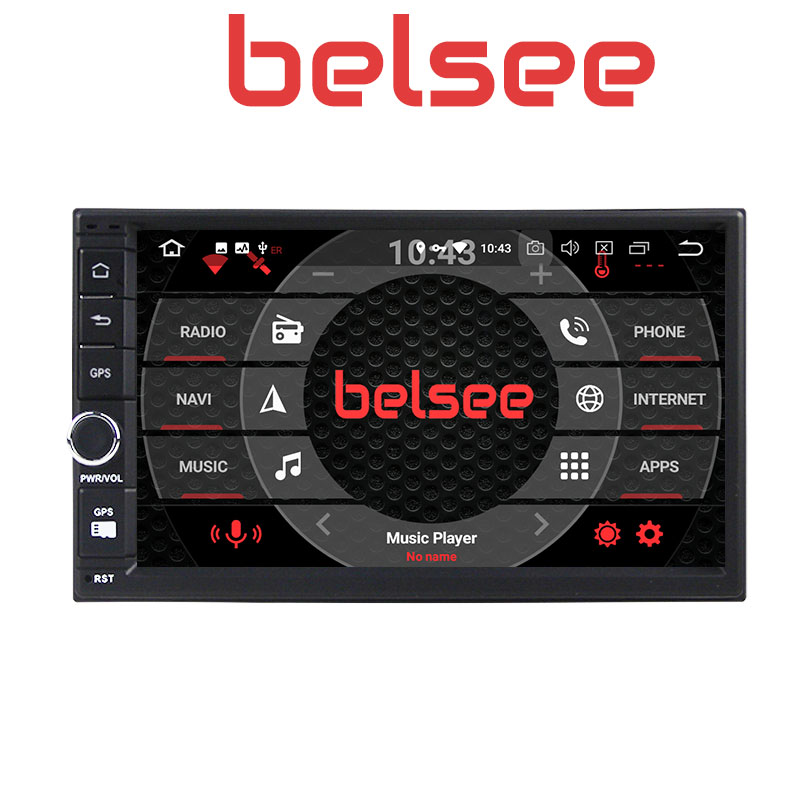 Belsee Melhor Duplo Din Unidade de Cabeça para Android 9.0 Din Som Do Carro Auto 2019 GB Ram 2 4 7 universal Sistema de Navegação GPS Rádio Do Carro