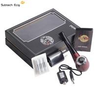 E Cigarette Mini E pipe 628 Kit with Three Cartridge Wooden Color smoke Fit for 510 Thread atomizer E Pipe 628 Mini vapor vape