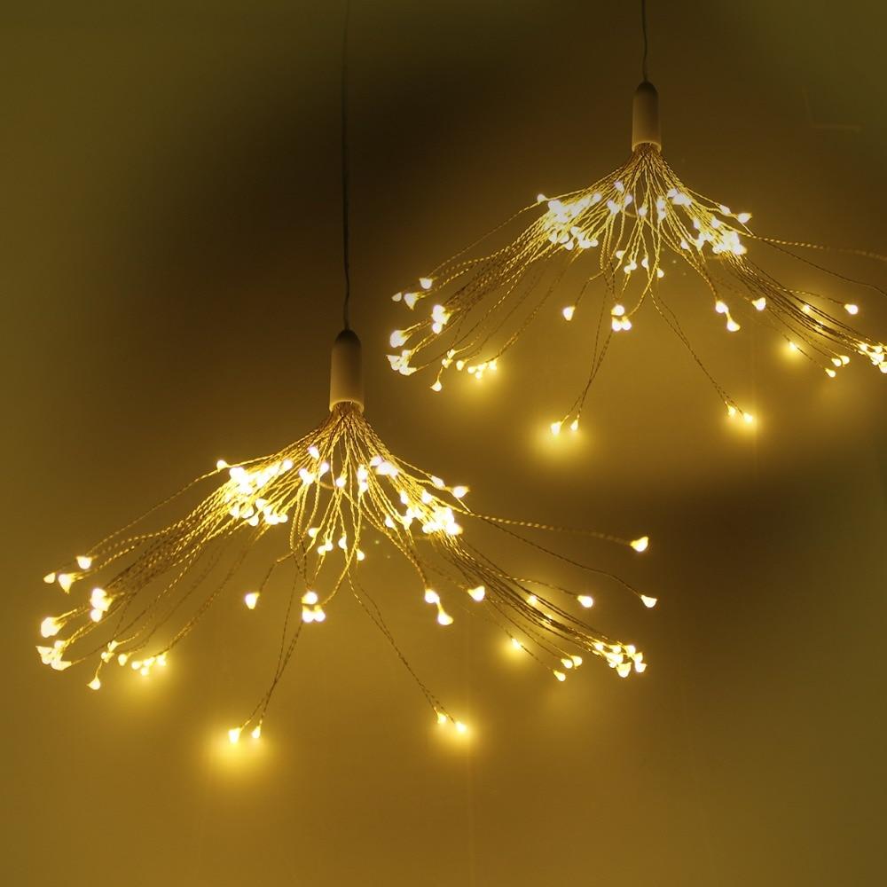 Bright July Diy Outdoor String Lights: T Sunrise 2 PCS 120LEDs String Lights DIY Firework Fairy